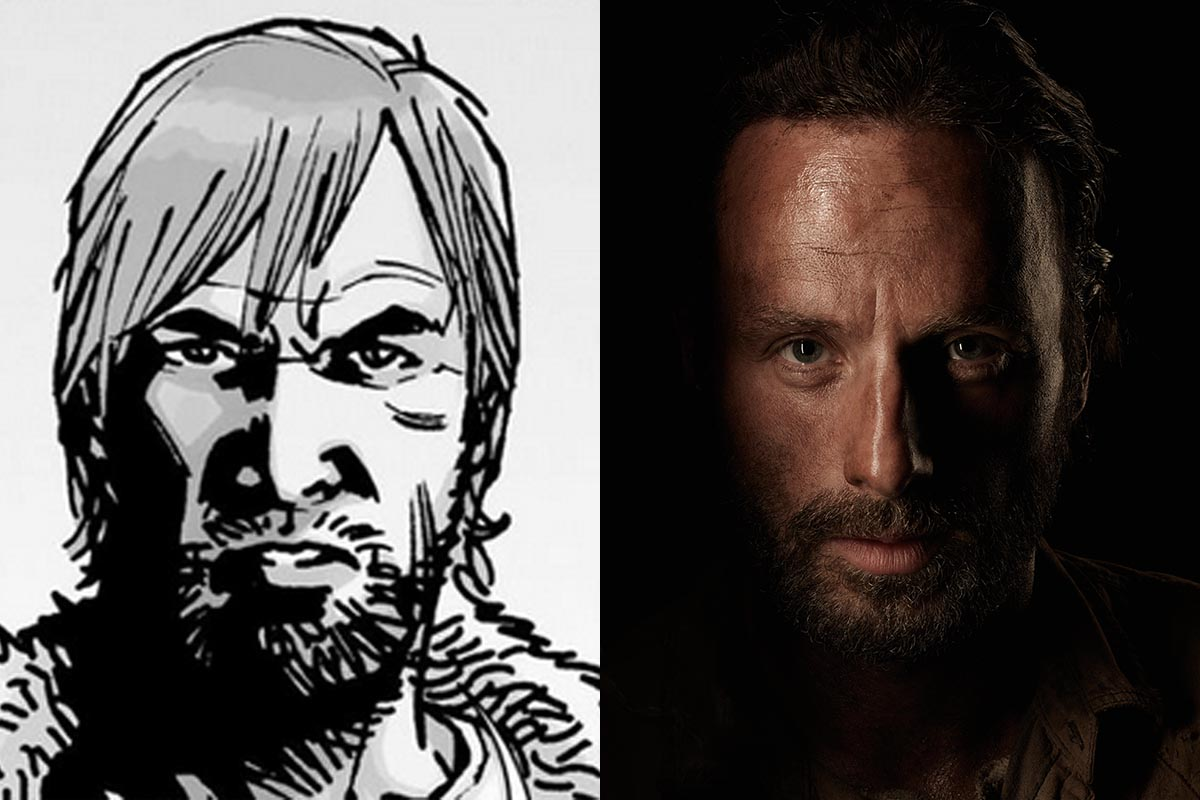 rick walkingdead - Here's How The Walking Dead Stars Compare to Their Comic Counterparts