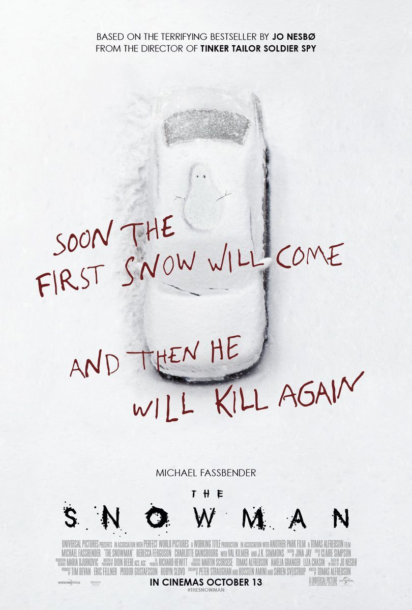 snowman 1 - New Posters for The Snowman Have Some Red on Them