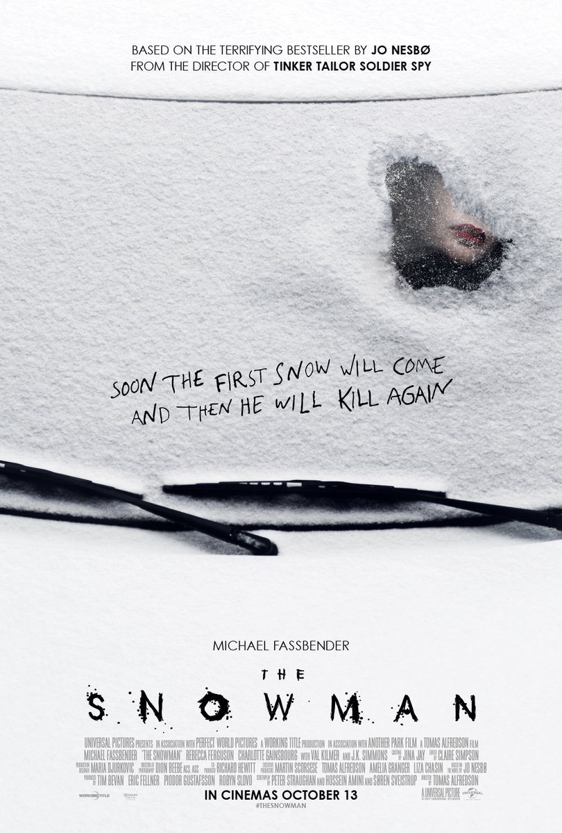 snowman 2 - New Posters for The Snowman Have Some Red on Them