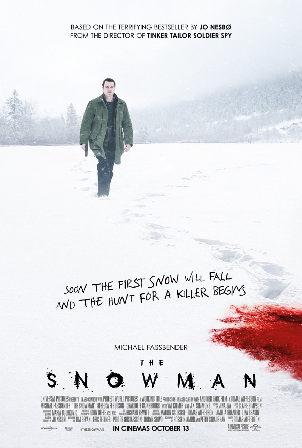 snowman 3 - New Posters for The Snowman Have Some Red on Them