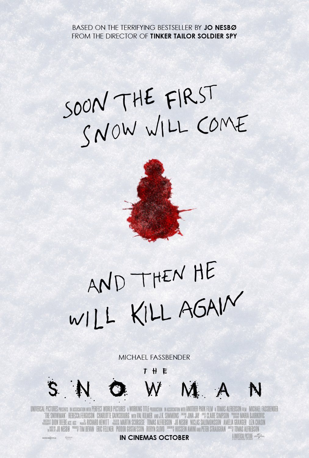 snowman 4 - New Posters for The Snowman Have Some Red on Them