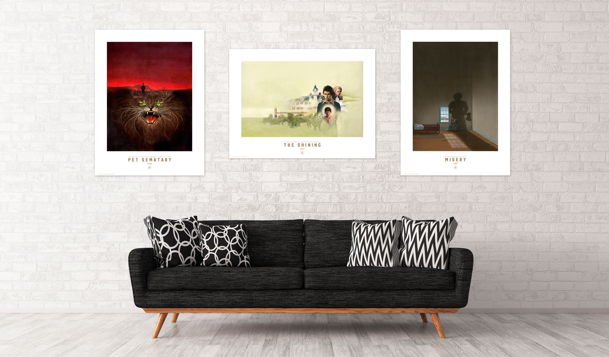 suntup trio sofa - Stephen King's Book Covers Getting Their Own Beautiful Prints
