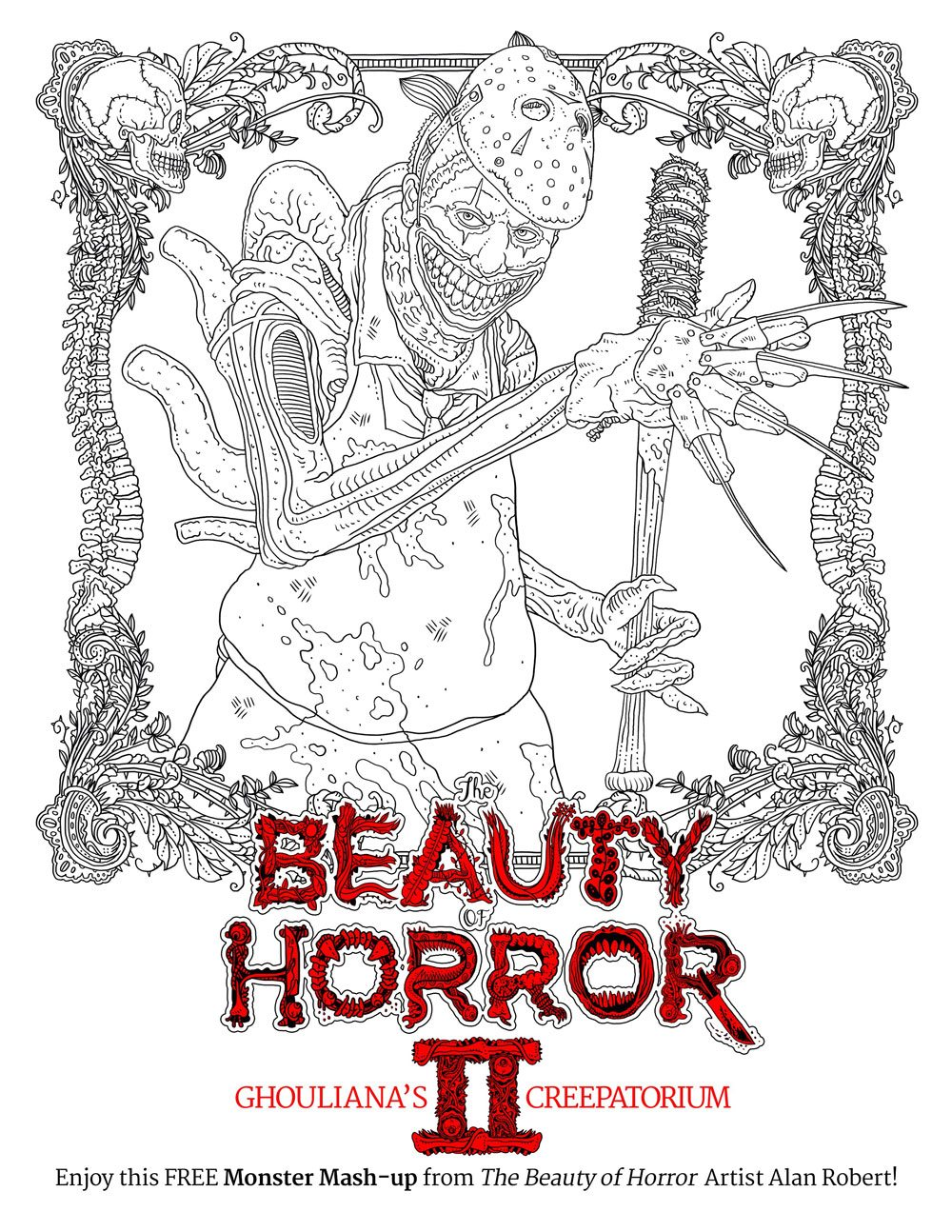Idw Releases Two Free Monster Mash Up Coloring Pages From Where To Buy Horror Coloring Books