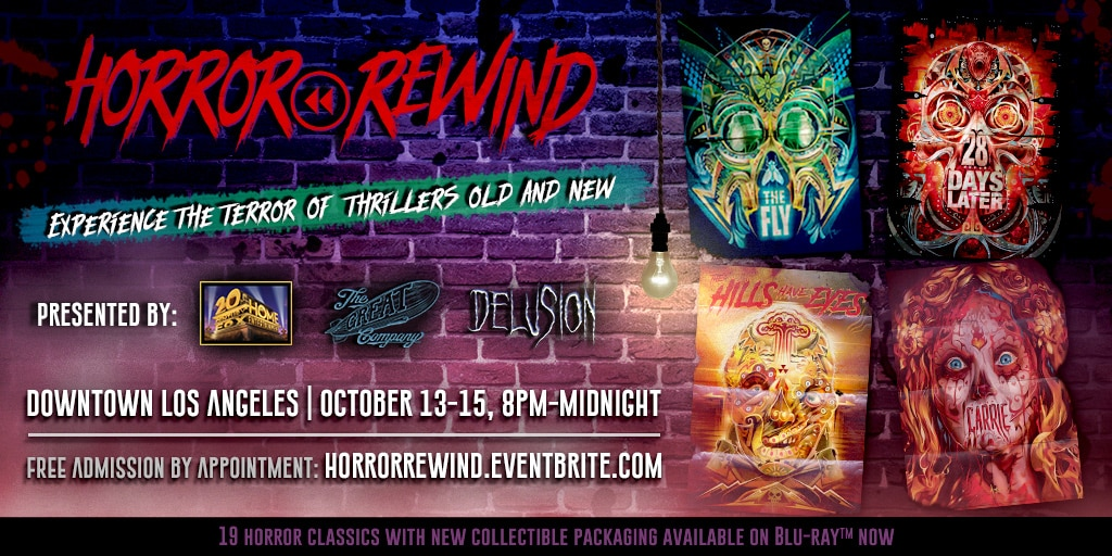 Horror Rewind Poster Ad 1024x512 - 20th Century Fox Launches Horror Rewind, a Limited Horror Attraction in Los Angeles