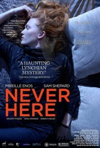 Never Here 202x300 - Horror Box Office – OPENING THIS WEEK: October 20, 2017