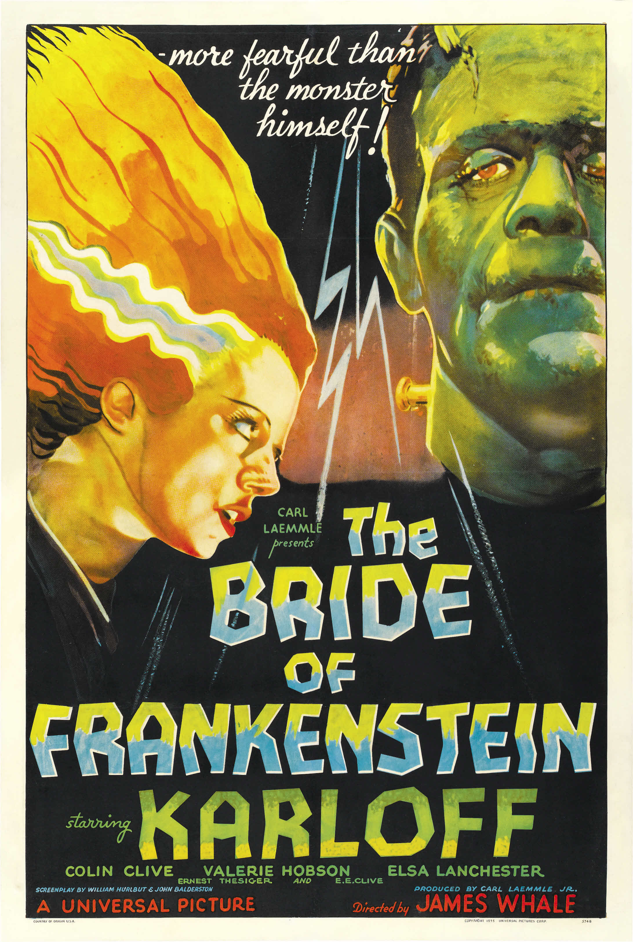 Poster Bride of Frankenstein The 01 - Production on Bride of Frankenstein Has Been Shut Down