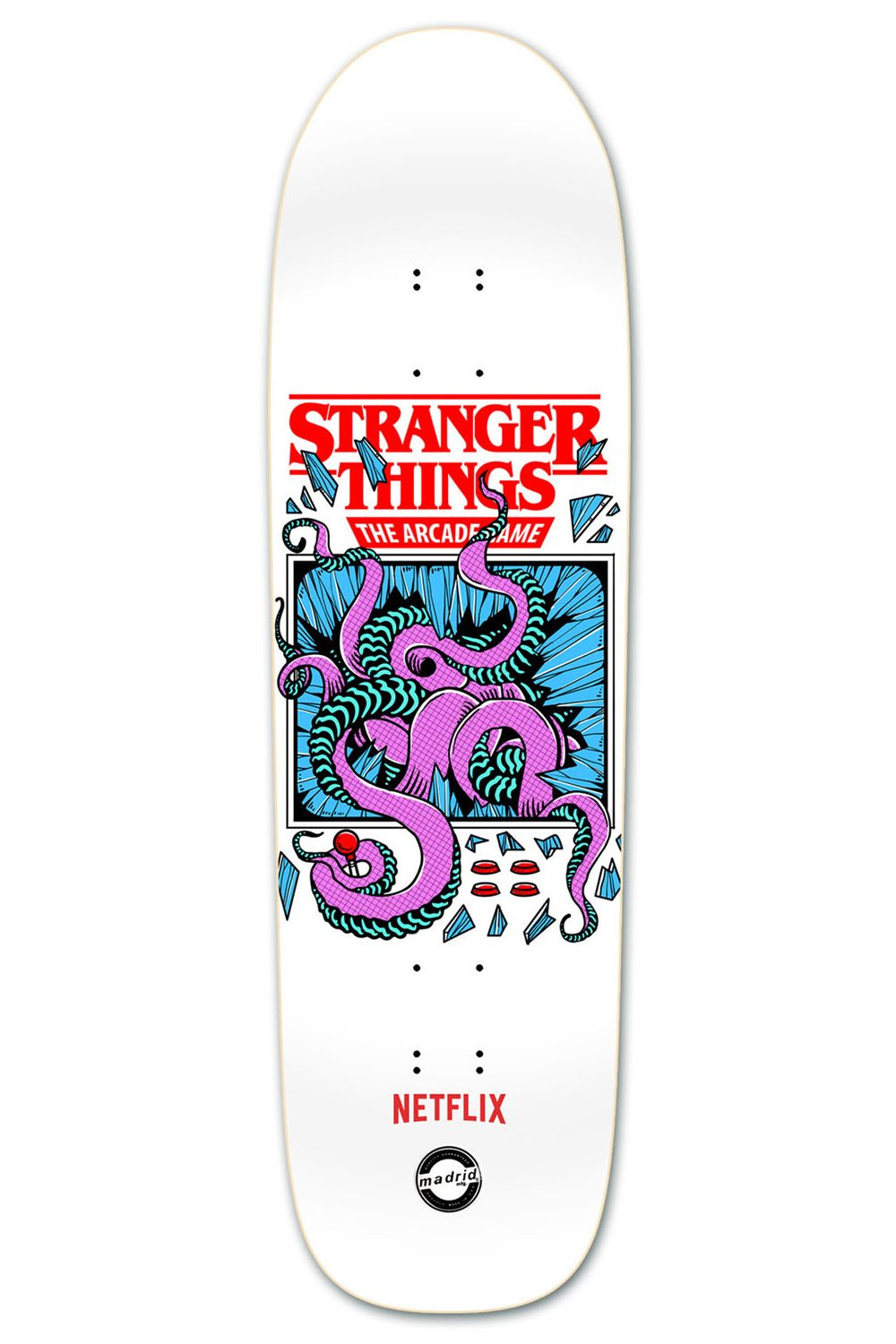 Stranger Things 2 Arcade Deck Madrid Skateboards - New Stranger Things Season 2 Merchandise on the Way as BoxLunch Teams with Netflix