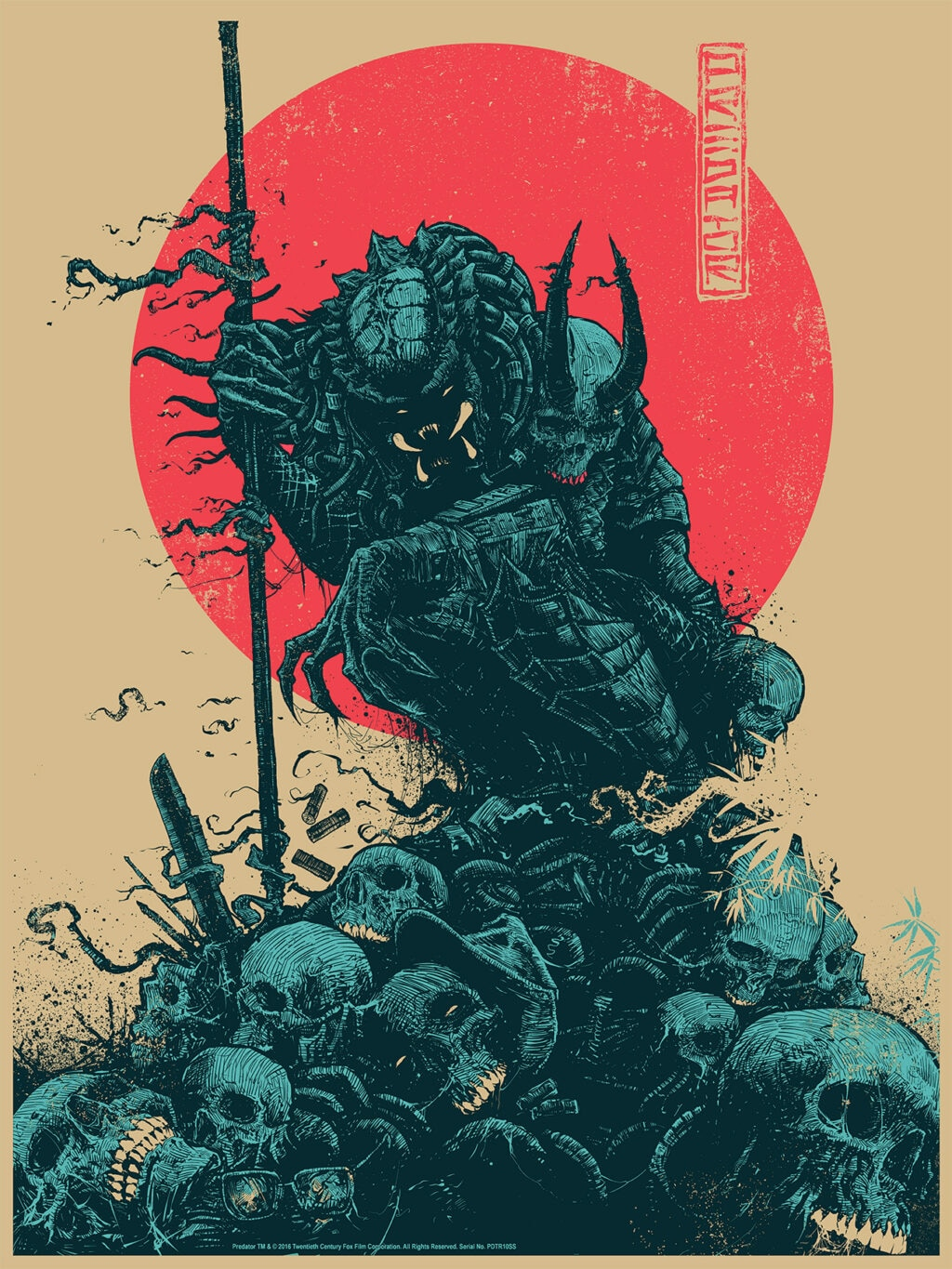 bottleneckpredator regular 1024x1365 - Exclusive: Bottleneck Gallery Reveals NYCC Art Prints Including Friday the 13th and Nightmare on Elm Street 3