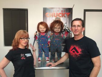 cult of chucky bts 1002 336x252 - Cult of Chucky - FX Designer Tony Gardner Speaks! Exclusive Behind-the-Scenes Video and Images!