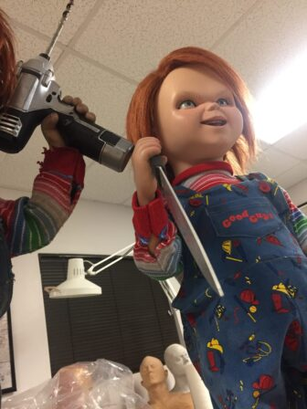 cult of chucky bts 708 336x448 - Cult of Chucky - FX Designer Tony Gardner Speaks! Exclusive Behind-the-Scenes Video and Images!