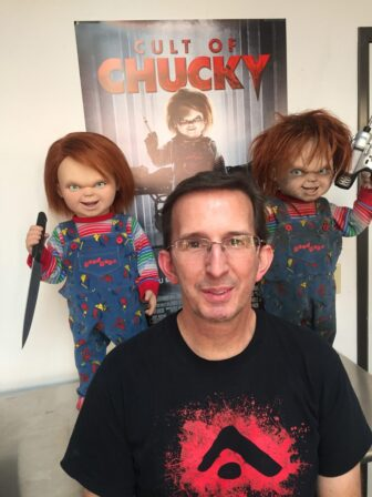 cult of chucky bts 910 336x448 - Cult of Chucky - FX Designer Tony Gardner Speaks! Exclusive Behind-the-Scenes Video and Images!