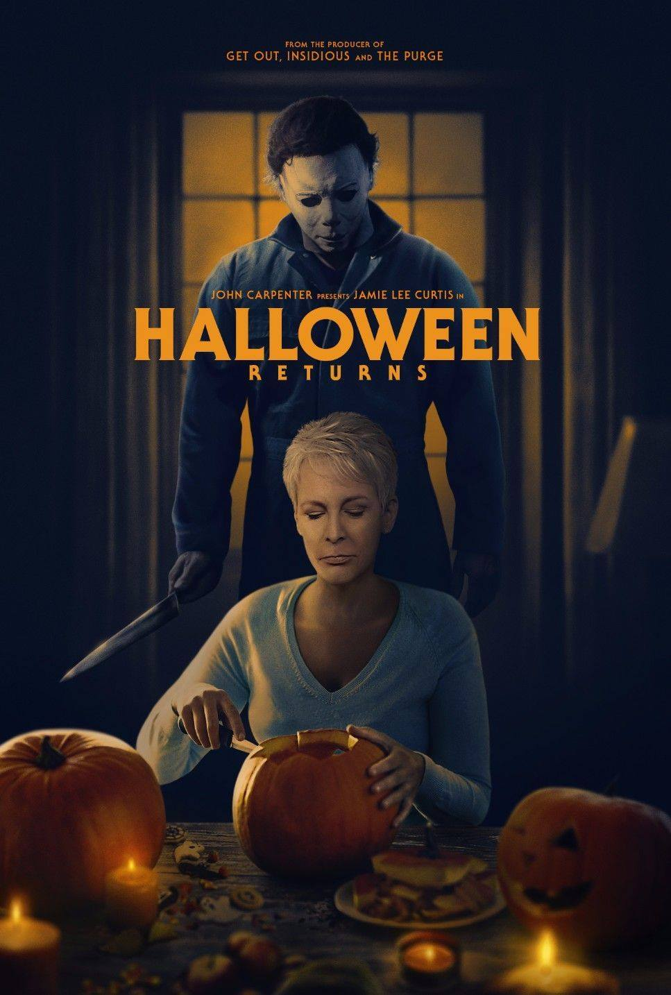 Halloween Movie Pumpkin 2018.Cool Halloween Fan Art Brings Laurie And Michael Together