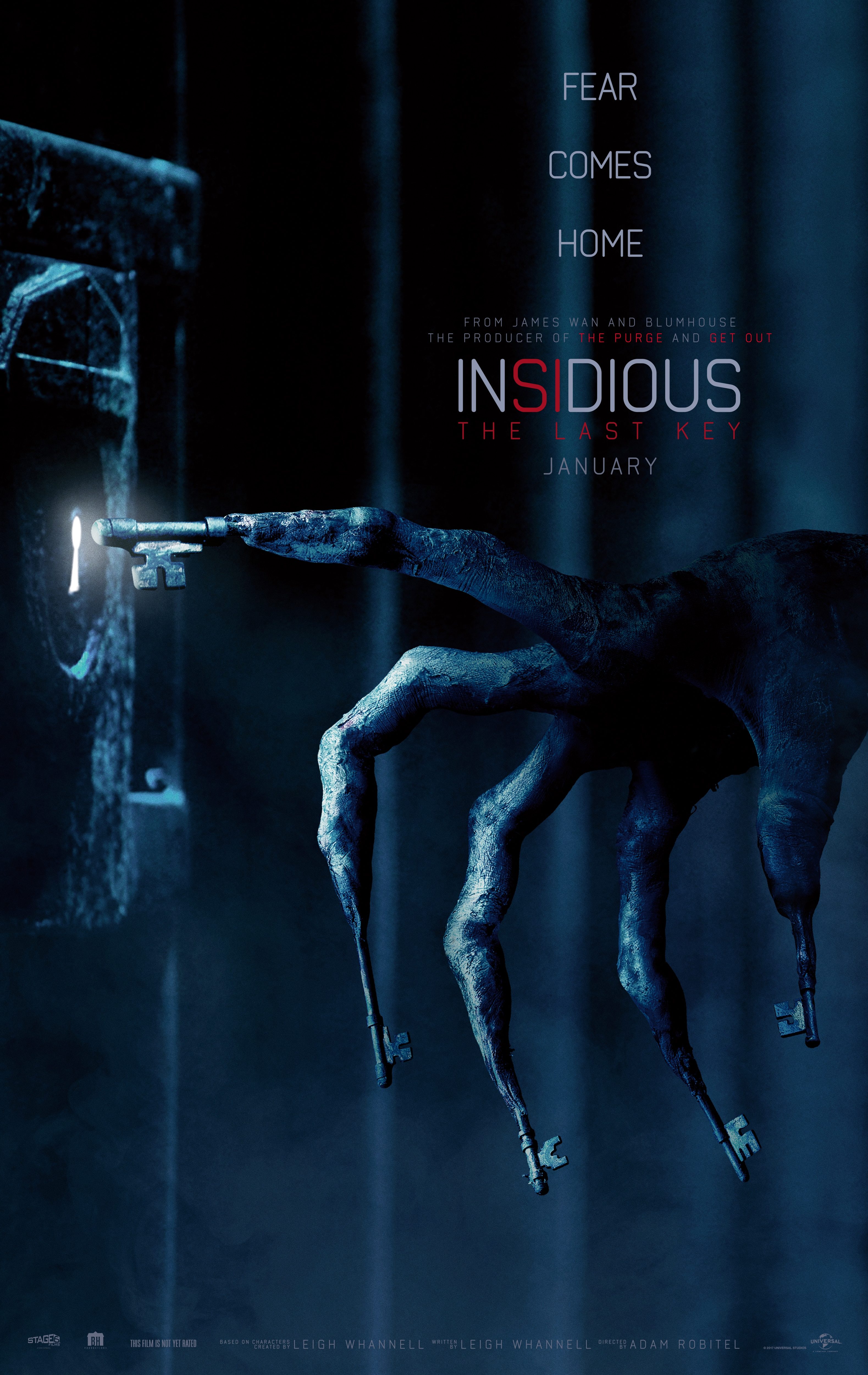 "insidiouslastkeyposter2 - Adam Robitel on Directing Insidious: The Last Key: ""I Went in Swinging For the Fences"""