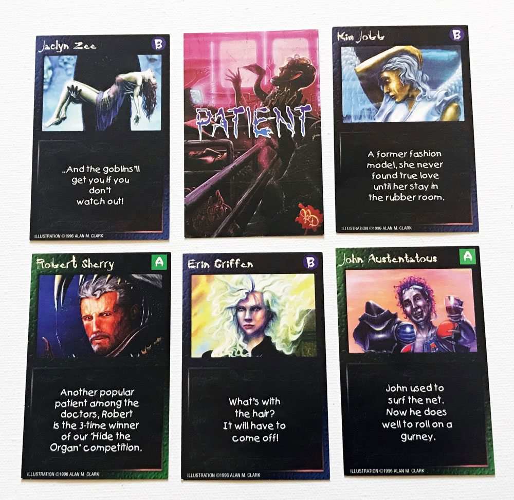 pain doctors PatientCards - Pain Doctors: The Game of Recreational Surgery Board Game Overview - Last Meeple Standing