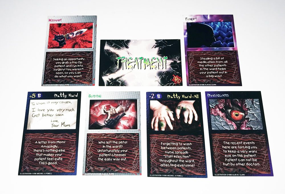 pain doctors TreatmentCards - Pain Doctors: The Game of Recreational Surgery Board Game Overview - Last Meeple Standing
