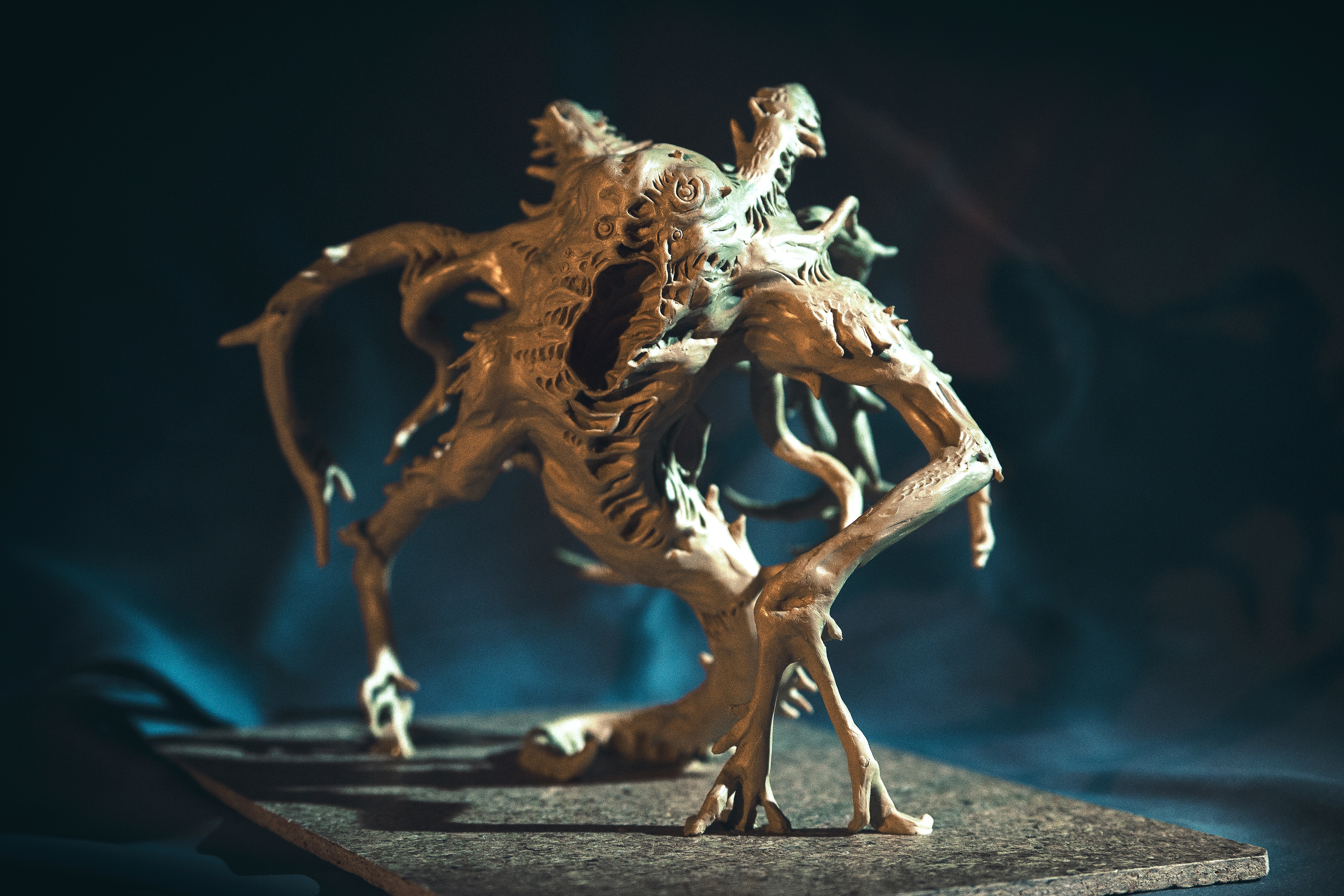 """sinkingcitysculpture 2 - Exclusive: The Sinking City Team Uses These Unsettling Sculptures to """"Get in the Mood"""""""