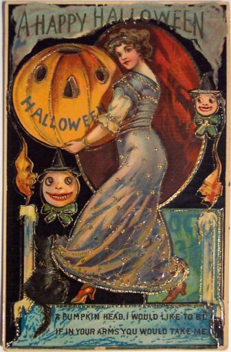 victorian halloween12 336x513 - Trick-or-Sweetheart: Halloween Was Oddly Romantic in Victorian Times