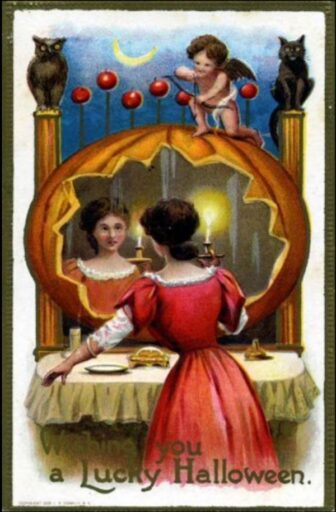 victorian halloween4 336x512 - Trick-or-Sweetheart: Halloween Was Oddly Romantic in Victorian Times