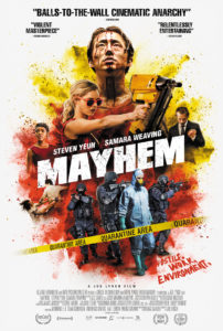 MAYHEM Poster image 2764X4096 V3 202x300 - Joe Lynch's Mayhem Fights Its Way to the Top of iTunes
