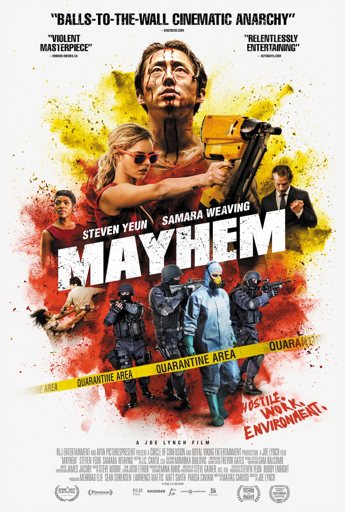 MAYHEM Poster image 2764X4096 V3 - Attention Los Angeles: See Mayhem and Watch Us Host the Q&A Panel!