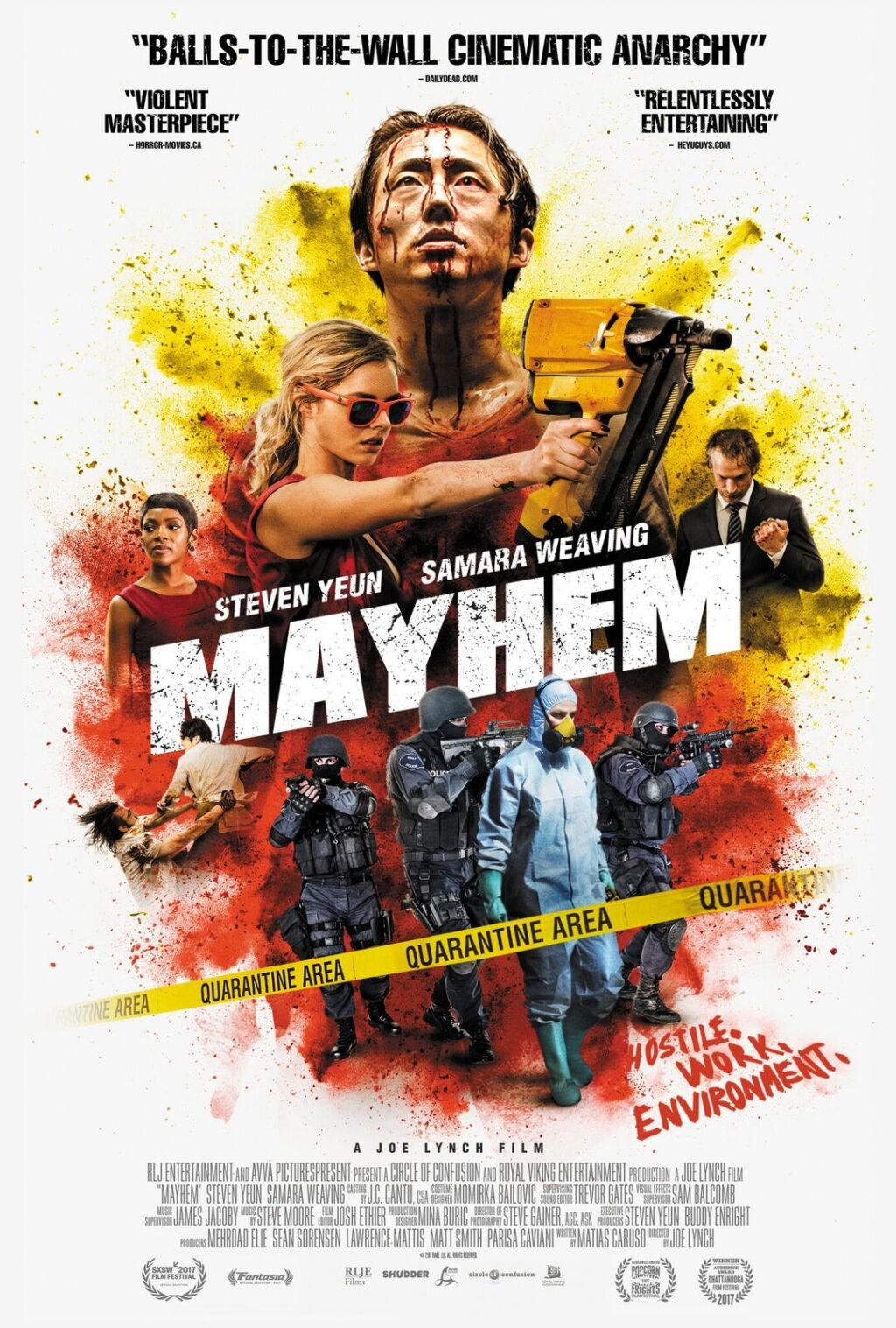 MAYHEM Poster image 2764X4096 V3 preview 1024x1517 - Drinking With The Dread: Punch More Than The Clock With 'Worksploitation' Gem MAYHEM