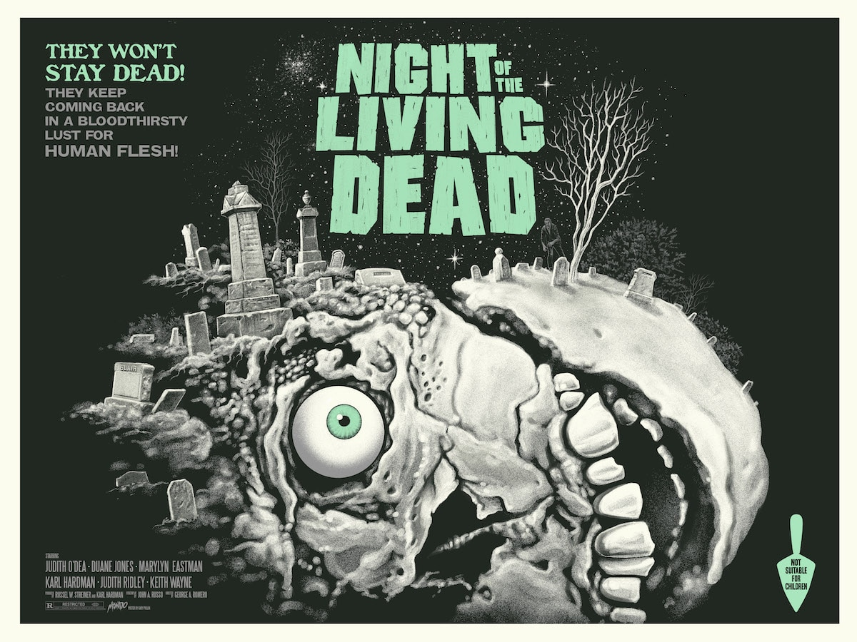 "NIght of the Living Dead green glow eg - Artist ""Ghoulish"" Gary Pullin Releasing Retrospective Art Book"