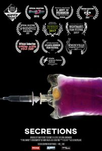 Secretions 202x300 - Secretions Short Film Review - Anyone For Some Blood and Guts a la Carte?