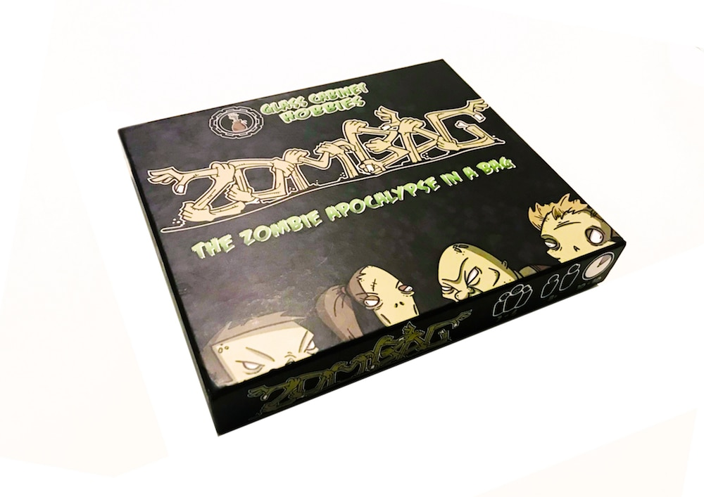 ZB 01 FrontOfBox - Zombag Game Overview - Last Meeple Standing