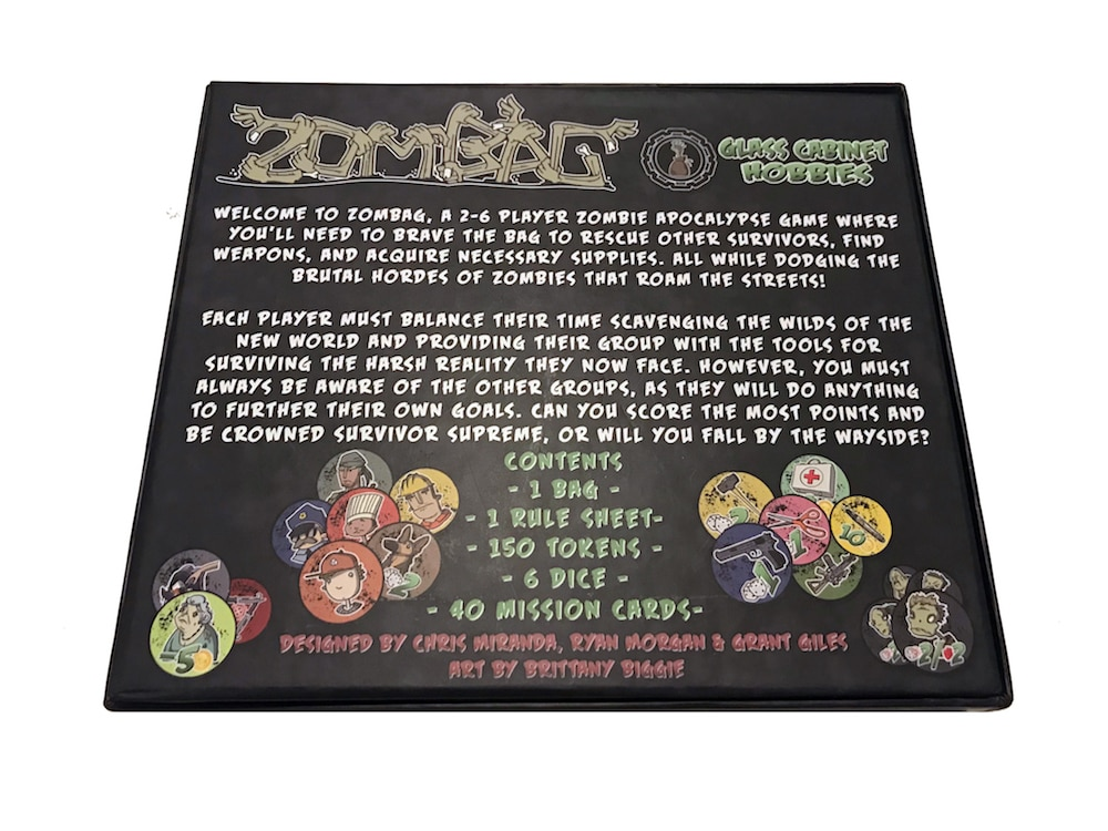 ZB 02 BackOfBox - Zombag Game Overview - Last Meeple Standing