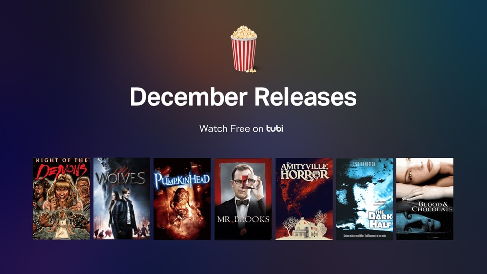 tubi dec horror - Tubi TV Terrors – December 2017