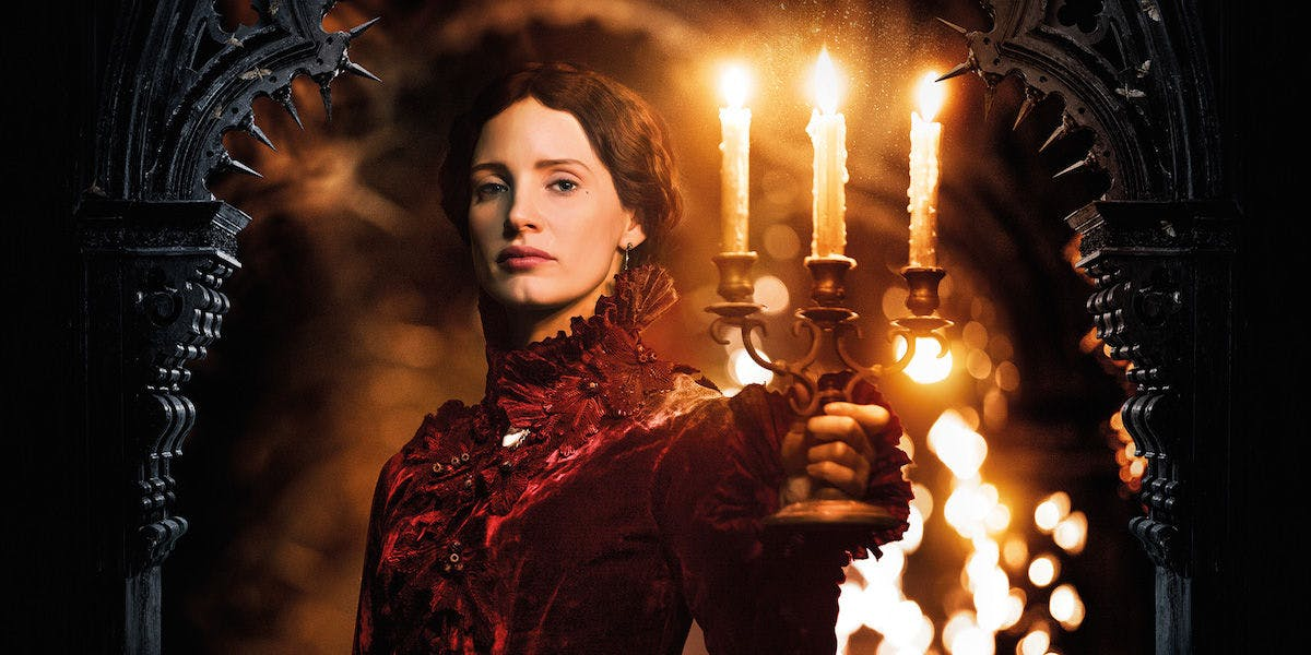 Jessica Chastain in Crimson Peak - What Would Guillermo Del Toro's Dark Universe Have Looked Like?