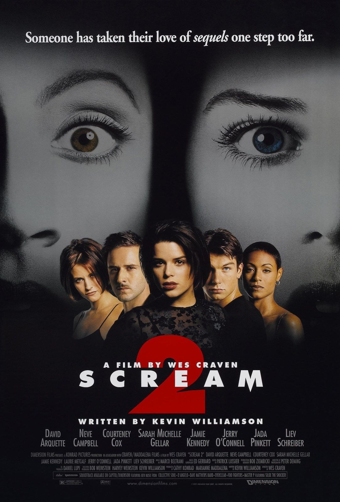 Scream 2 poster - Exclusive: Scream 2's Jerry O'Connell and Kevin Williamson Talk Leaked Scripts and Different Killers!