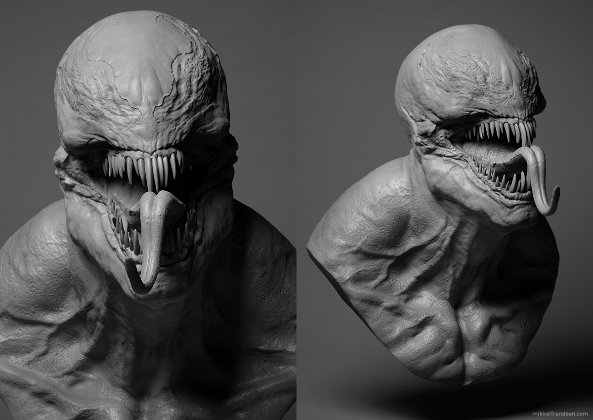 Venom 2 - Early First Look at CG Model for Venom?