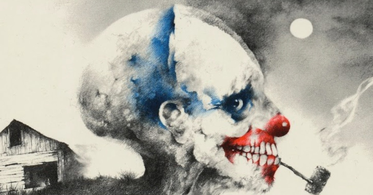 scary stories to tell in the dark cover clown banner - SCARY STORIES TO TELL IN THE DARK Sculpture Would Look Great On My Wall