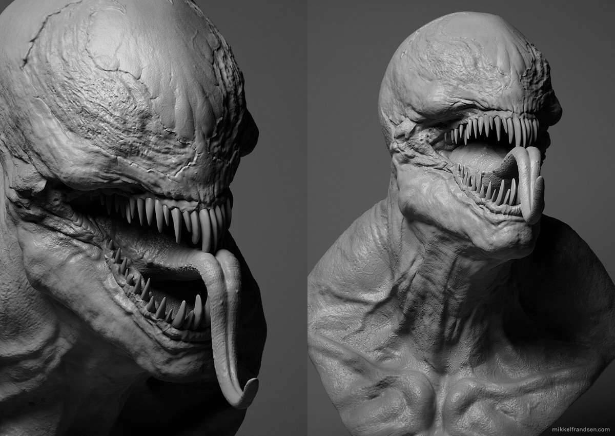 venom 1 - Early First Look at CG Model for Venom?