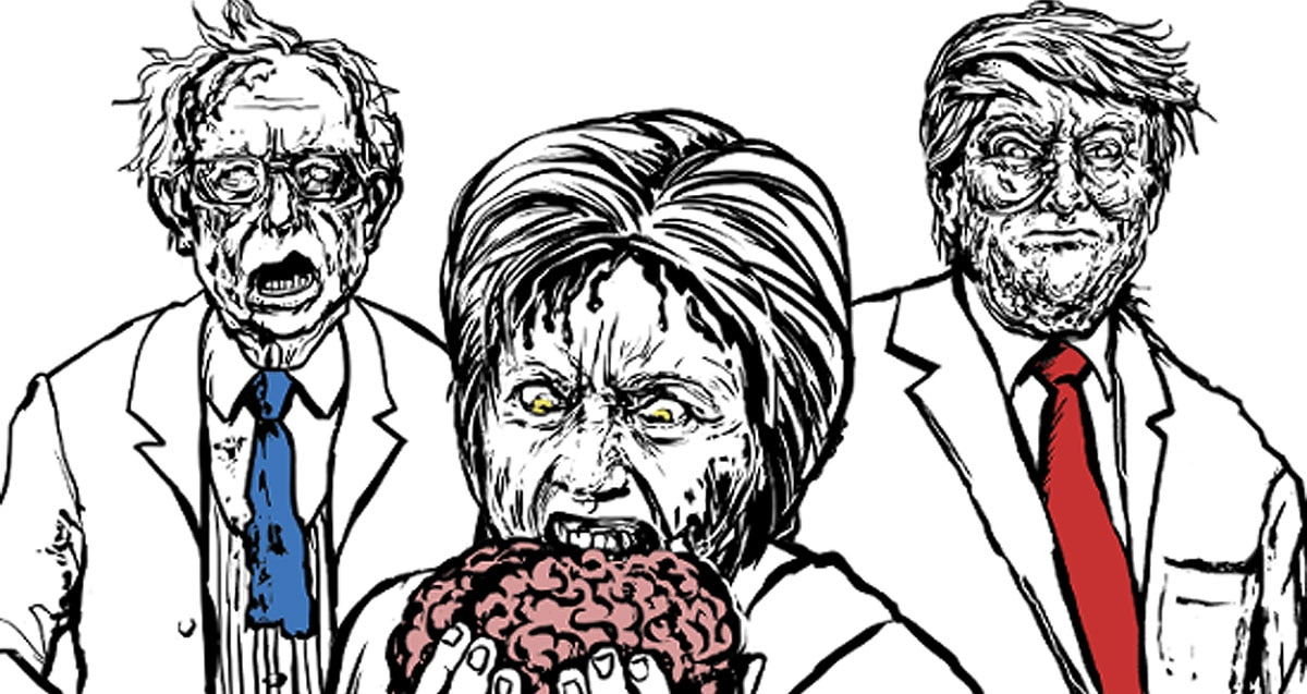 zombie politicians book s - Adult Coloring Book Zombie Politicians Arriving Just in Time for the Holidays