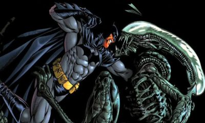 Batman vs Aliens 400x240 - Superheroes You Never Realized Battled Xenomorphs