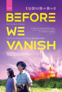 BeforeWeVanish poster 203x300 - Before We Vanish Review - A Quirky and Original Take on Alien Invasions