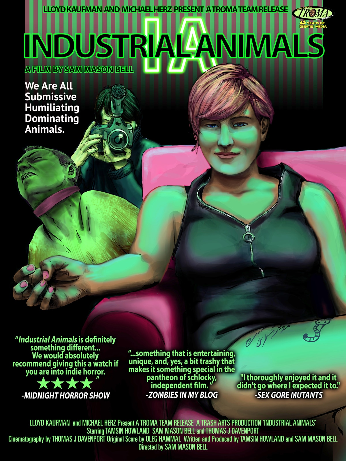 INDUSTRIAL ANIMALS POSTER - Troma's Industrial Animals - Exclusive Poster and NSFW Trailer Premiere