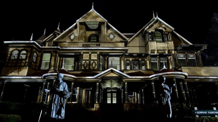 Winchester Mystery House at Night 750x422 - Winchester: Before the Movie, See Dread Central's Paranormal Investigation of the Actual Winchester Mansion