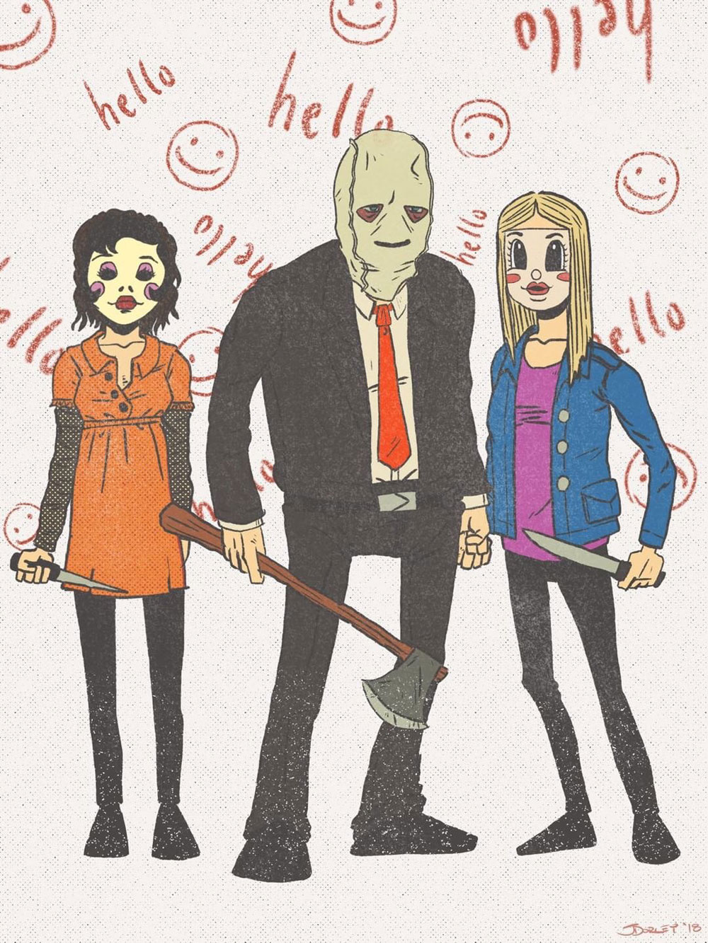 strangers2 fan art sample - The Strangers: Prey at Night Fan Art Contest Continues! Exclusive Image!