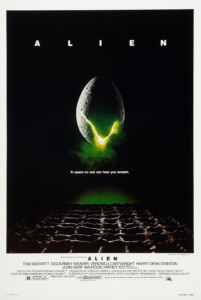 Alien Poster 201x300 - DC Horror Oscars Part II: Horror Movies That Were Nominated And/Or Won Academy Awards