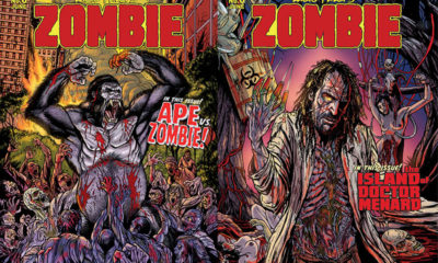Eibon Press Zombie 6 Variants 400x240 - Exclusive: Box of Dread Subscribers Sneak a Peek at Zombie vs. Ape!