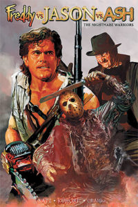 Freddy vs Jason vs Ash Nightmare Warriors 200x300 - Ash vs. Everyone: Eight of the Most Exciting Evil Dead/Army of Darkness Crossover Comics