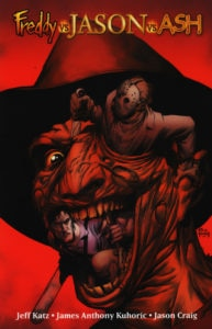 Freddy vs Jason vs Ash comic 193x300 - Ash vs. Everyone: Eight of the Most Exciting Evil Dead/Army of Darkness Crossover Comics
