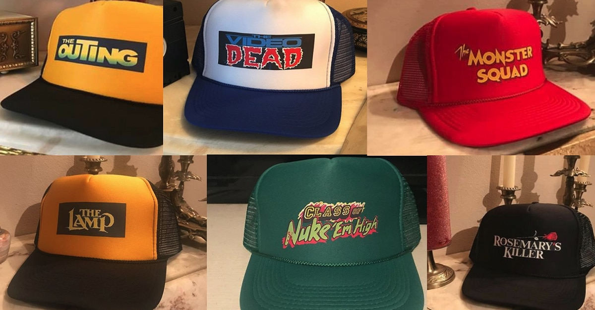 HorrorRetroCaps - Horror Retro Caps Boasts Hats Featuring The Lamp, The Video Dead, Rosemary's Killer and more!