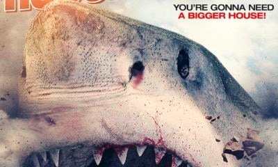 HouseShark 1sht R1 Art D LO 1 400x240 - Ron Bonk's House Shark Gets Suitably Silly New Trailer and Poster