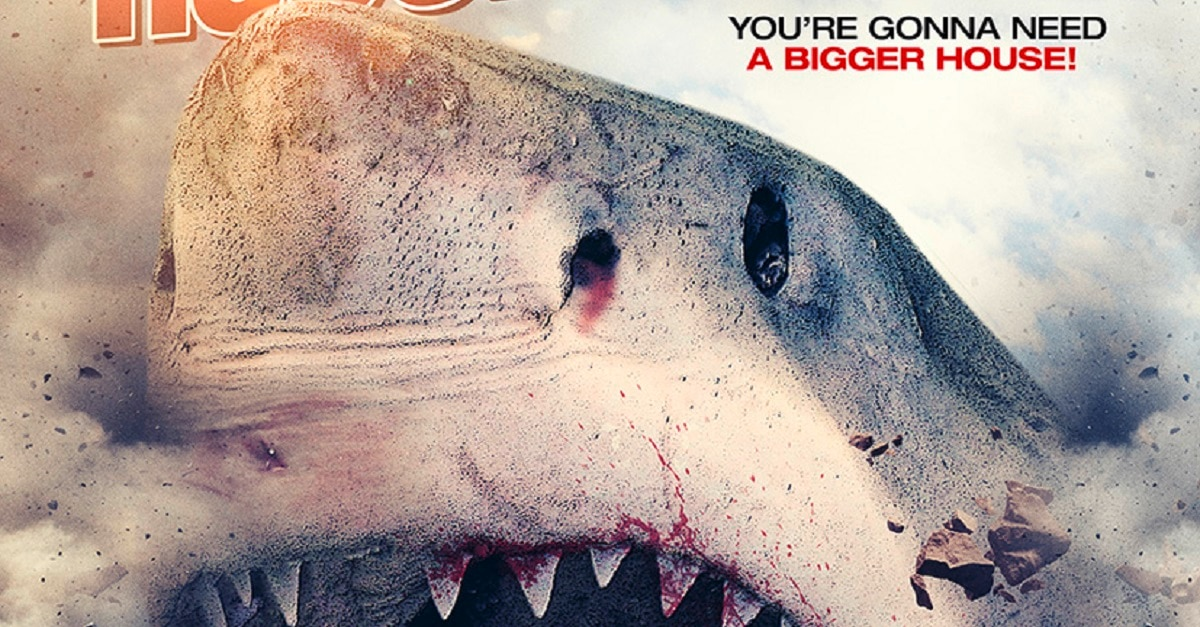 HouseShark 1sht R1 Art D LO 1 - Ron Bonk's House Shark Gets Suitably Silly New Trailer and Poster