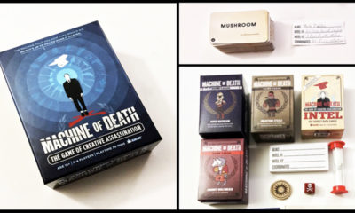 MD featured photo v02 400x240 - Machine of Death: The Game of Creative Assassination - Last Meeple Standing Game Overview and Review