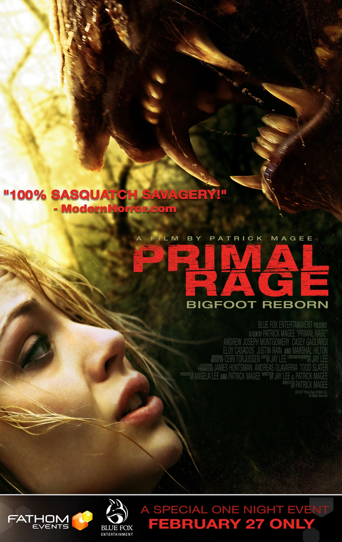 PrimalRage MiniPoster Artwork V3 - Exclusive Clip: Primal Rage - Bigfoot Causes Chaos!